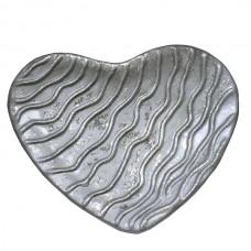 Dekotalíř srdce stříbrné