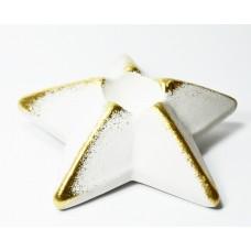 Svícen bílá hvězda zlacená