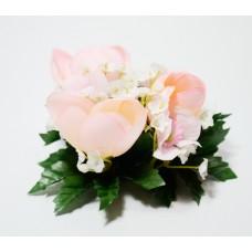 Květinový věneček růžový
