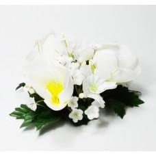 Květinový věneček bílý