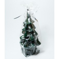 Svíčka - vánoční stromeček stříbřený