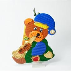Ozdoba medvěd s trubkou